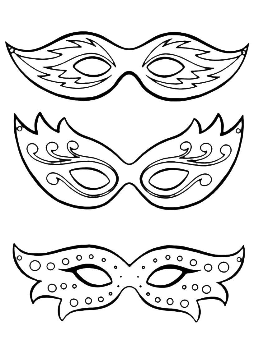 Maschere di carnevale disegni maschere di carnevale da for Immagini maschere carnevale da colorare