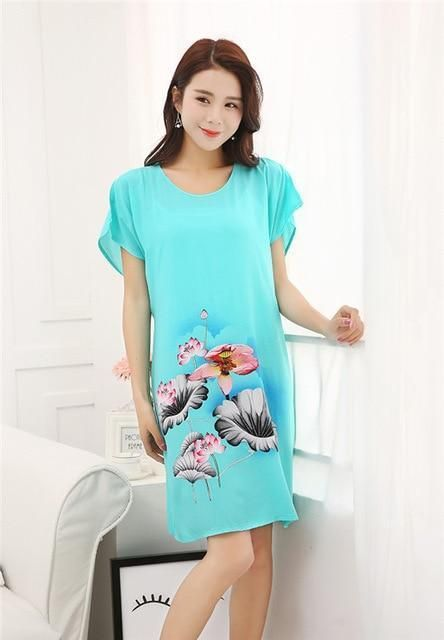 5f636609253 New Arrival Sexy Lady Nightdress Robes Summer Women Casual Nightgown Chinese  Style Sleepwear