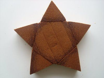 How to make a star cake without a star shaped pan.