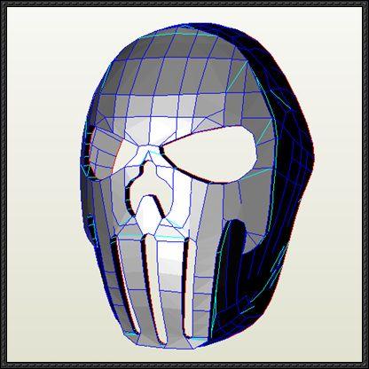 marvel comics punisher s mask free papercraft download http