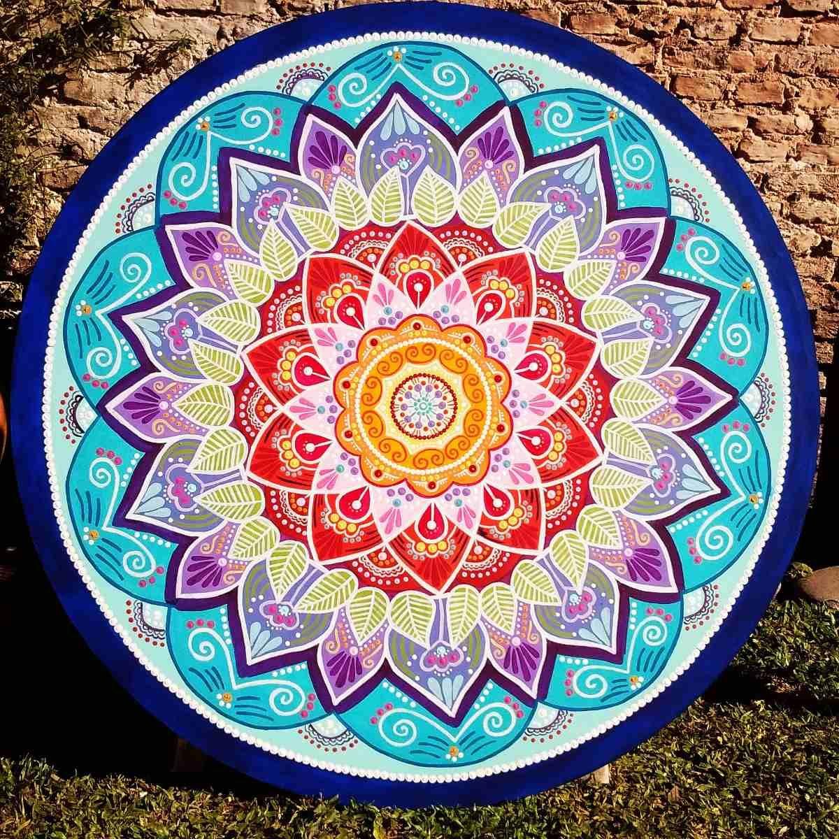 Cuadros De Mandalas Artesanales Pintados A Mano Unicos Pinterest