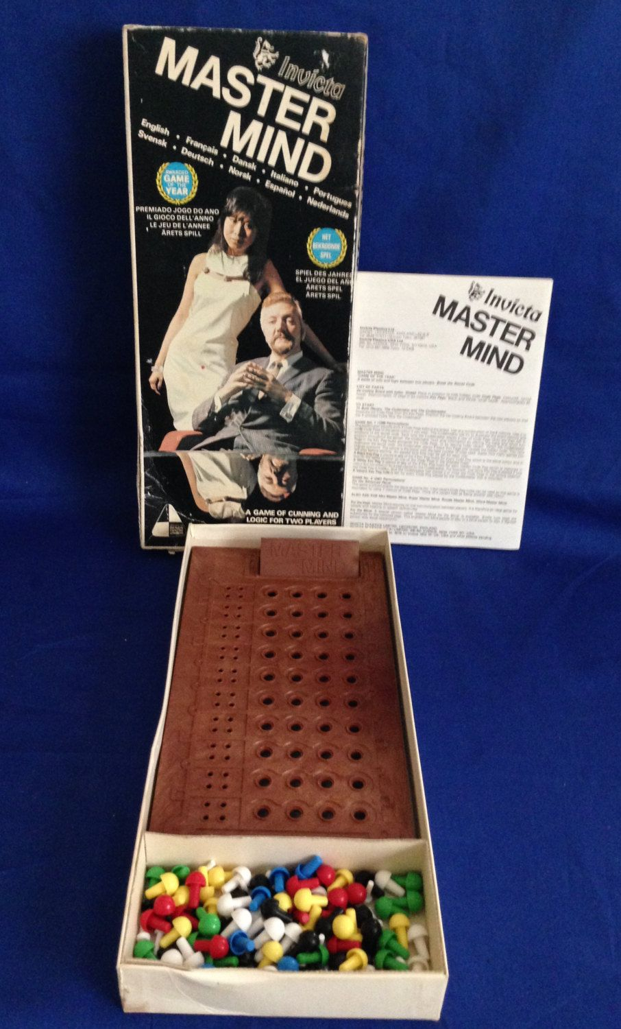 Mastermind a Game of Cunning and Logic by Invicta 1972