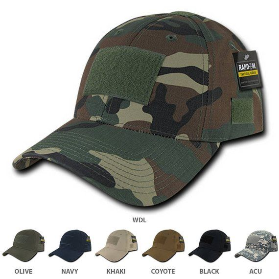 a1c6a6331 Tactical Operator Ripstop Cotton Baseball Cap with Loop Patch (T77 ...