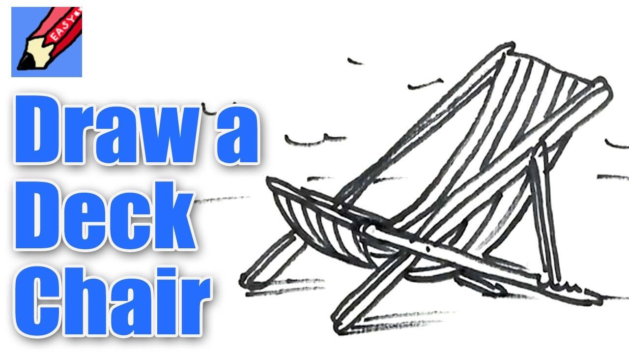 How To Draw A Deck Chair Real Easy Spoken Tutorial Deck Chairs Umbrella Drawing Chair Drawing