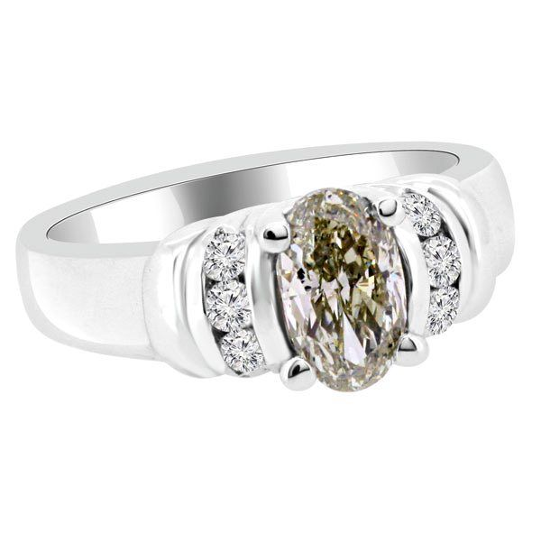 Jewelry Point - 1.47ct Oval Champagne Brown Diamond Engagement Ring, $3,750.00 (http://www.jewelrypoint.com/1-47ct-oval-champagne-brown-diamond-engagement-ring/)