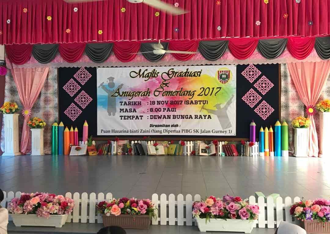 Hari Anugerah Cemerlang 2017 Hiasan Pentas Dan Backdrop Latar Pentas Stage Decorations Eid Decoration Diy And Crafts