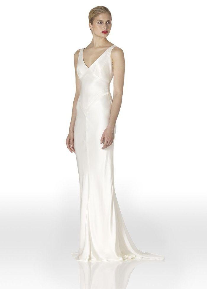 bias cut wedding dresses + budget | Bias Cut Satin Wedding Dress by ...