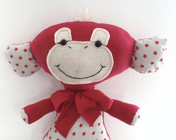 PDF PATTERN Baby Sock Monkey | Affen