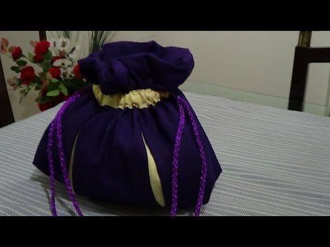 e59d89a3ef how to make Handmade potli bag,wedding pouch - YouTube   Black Laces ...