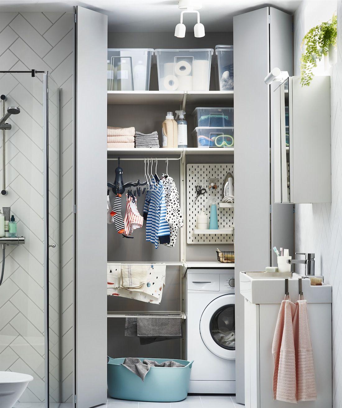 Inspiration & Ideen   Ikea laundry room, Small laundry rooms ...