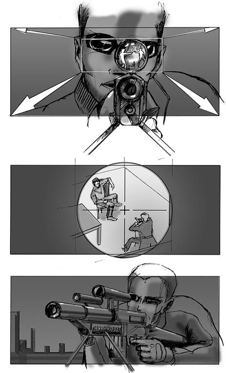 Storyboard Project Unnamed Feature Pilot Sniper Sequence