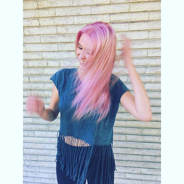that #pinkhair in bloom. #avedacolor +  by #establishmentLA stylist Jess #maneaddicts #modernsalon #behindthechair #instahair #haircolor #radness in #losangeles