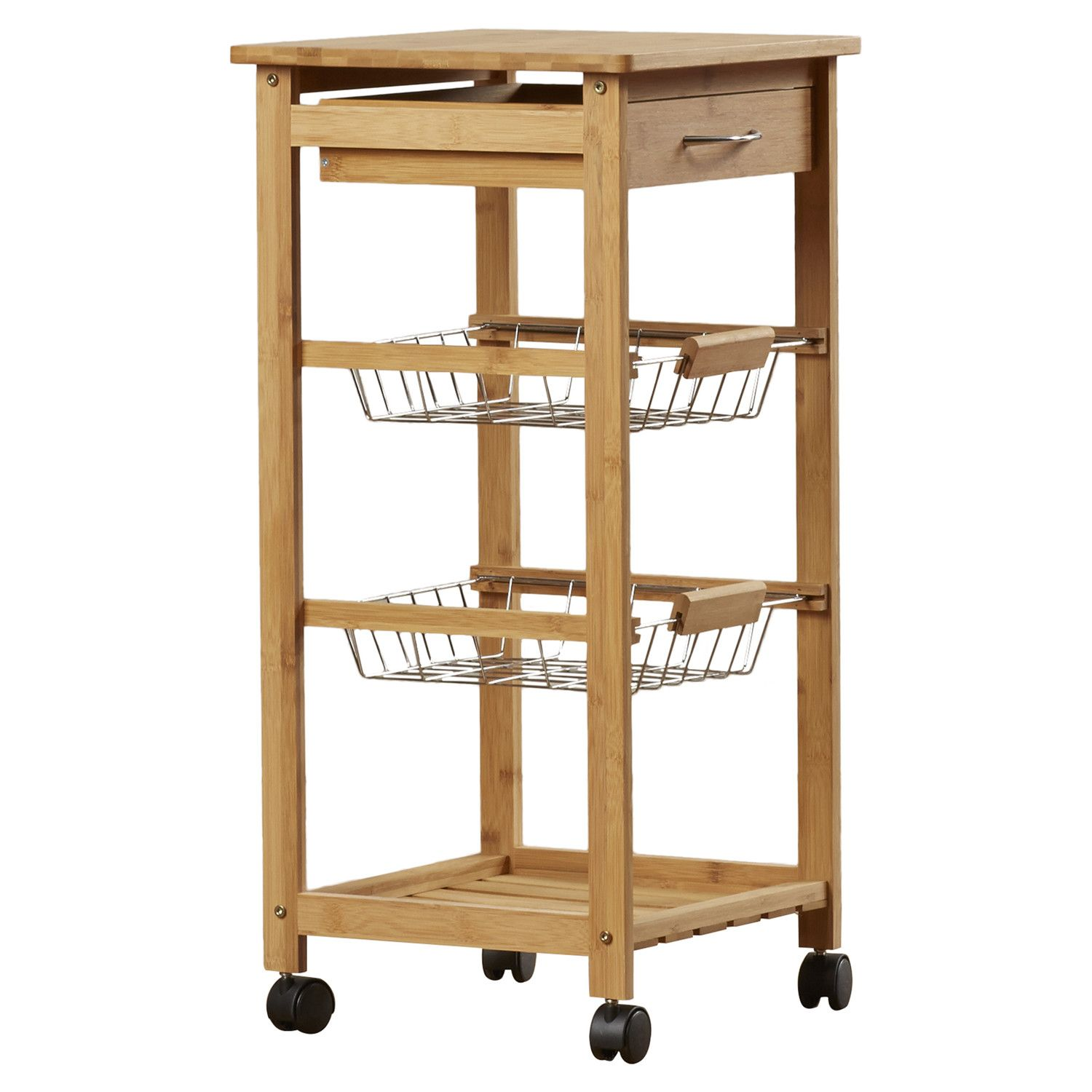 Zingz & Thingz Kitchen Cart with Bamboo Top | It\'s a Very, Very ...