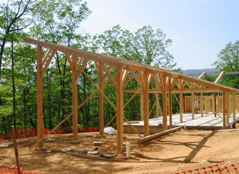 Pictures Of Small Post And Beam Structure And Beam Home
