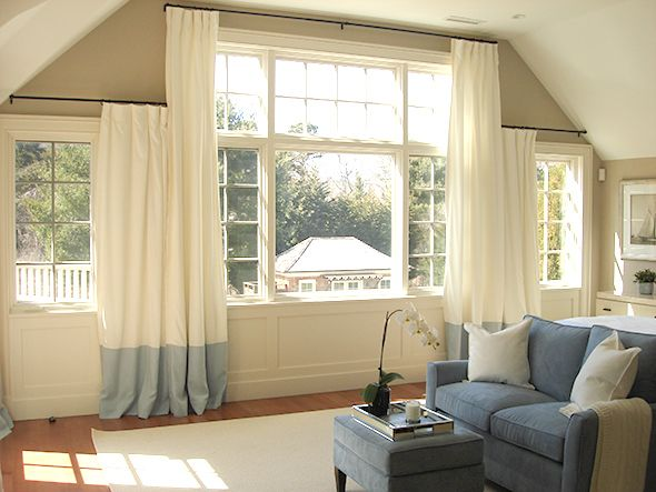 Window Treatment By Libby Langdon Properly Ad The Challenging Architechture Hanging D Bedroom Curtains With
