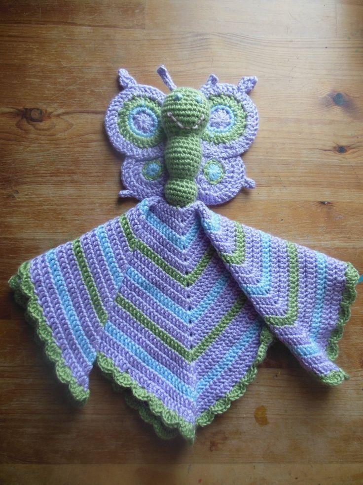 Butterfly Security Blanket, Lovey Crochet. $25.00, via Etsy. | baby ...