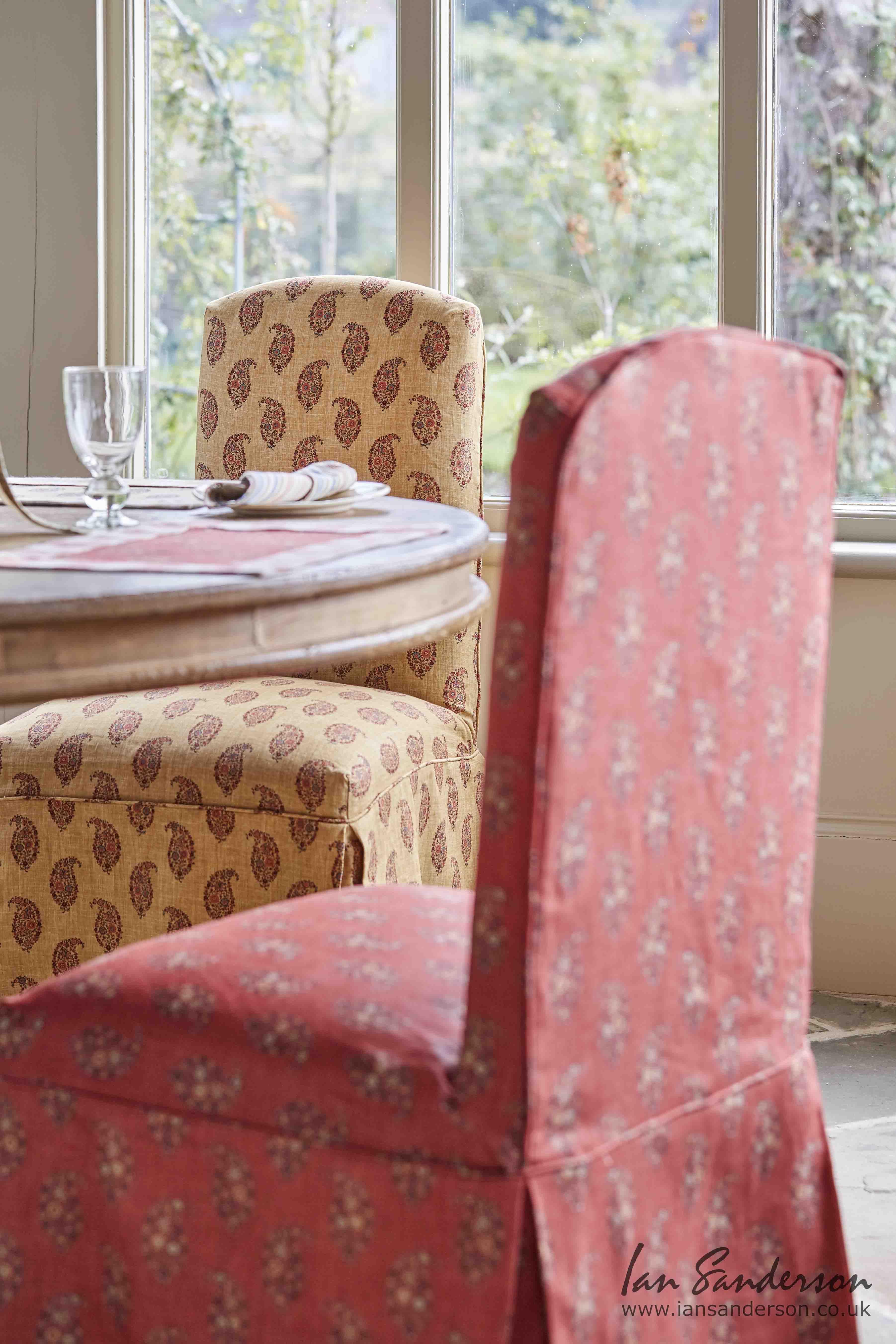 Dining chairs jessamy jaipur paprika paisley print jaipur herringbone dining chairs