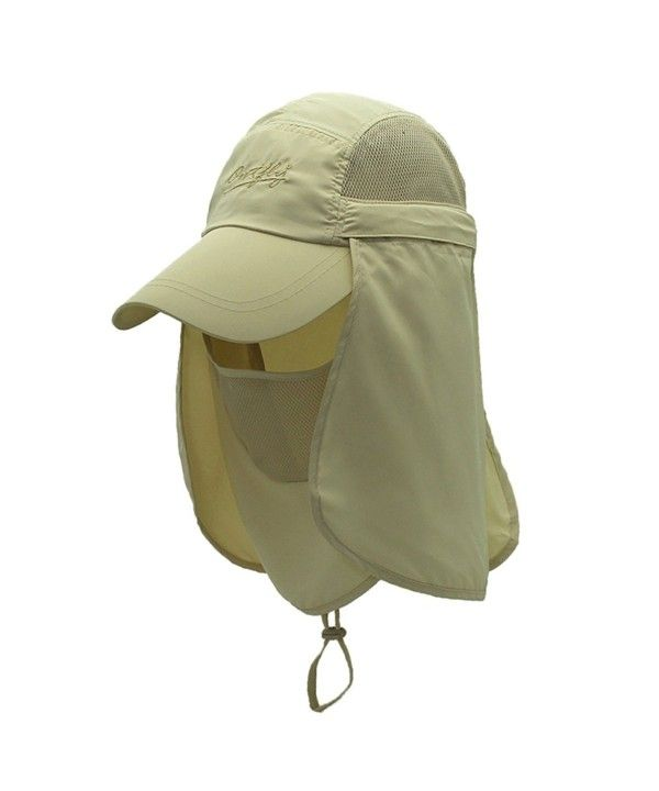 35ce85265c9cb Home Prefer Mens Sun Hat Mesh Bucket Hat Detachable Neck Face Flap Hat  Boonie Hat Khaki    Read more at the image link.Note It is a…