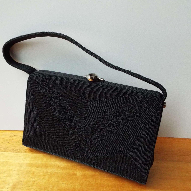 Rare Vintage 1940 S Australian Genuine Corde Handbag Purse Evening Bag David