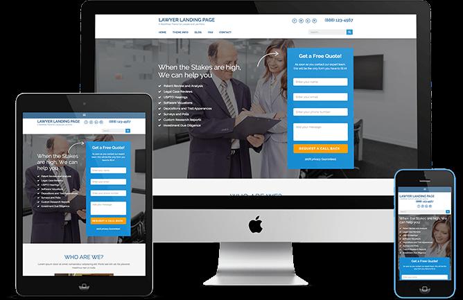 Lawyer Landing Page – Tema Gratis WordPress | Lawyer, Wordpress and ...
