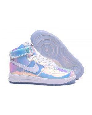 new style 88ac6 c82e4 Nike Air Force 1 ID High Super Bowl Mirror Gradient Rainbow Running Shoes | air  force 1