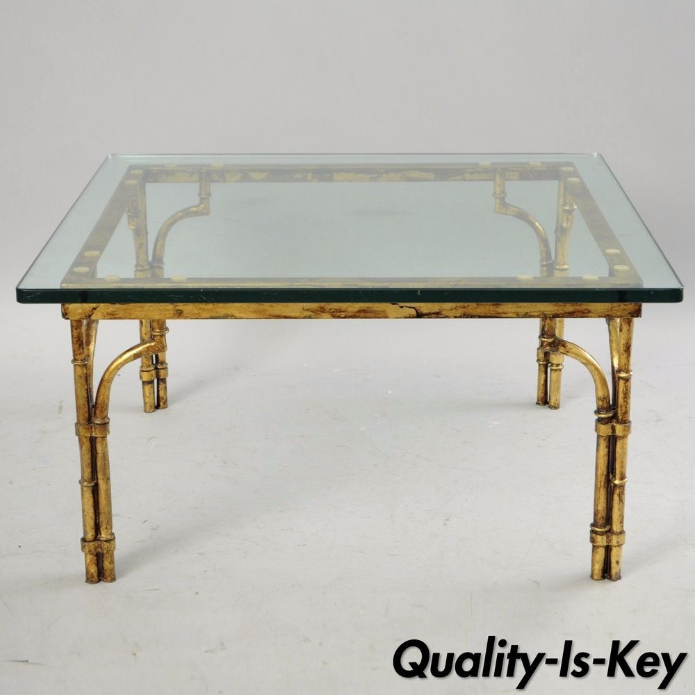 Italian Gold Gilt Iron Glass Faux Bamboo Square Coffee Table Hollywood Regency Ebay Coffee Table Square Bamboo Coffee Table Coffee Table [ 1000 x 1000 Pixel ]