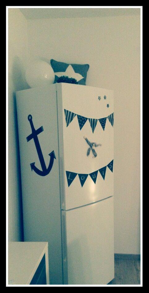 Kühlschrank mit Tafelfolie ♡