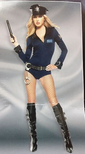adult spirit black label sexy cop costume sz medium 6 8 halloween sexy dress halloween - Girls Cop Halloween Costume