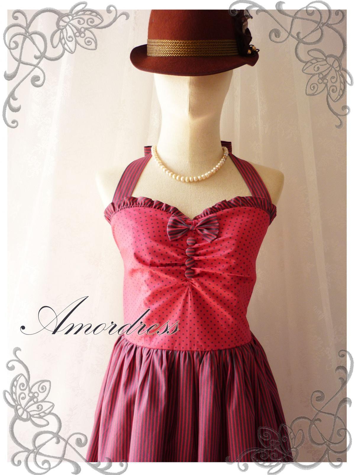 Crimson red summer dress