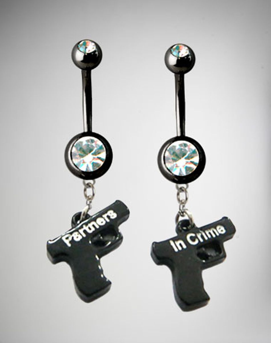 Best Friends Partners in Crime Belly Button Rings Set ...