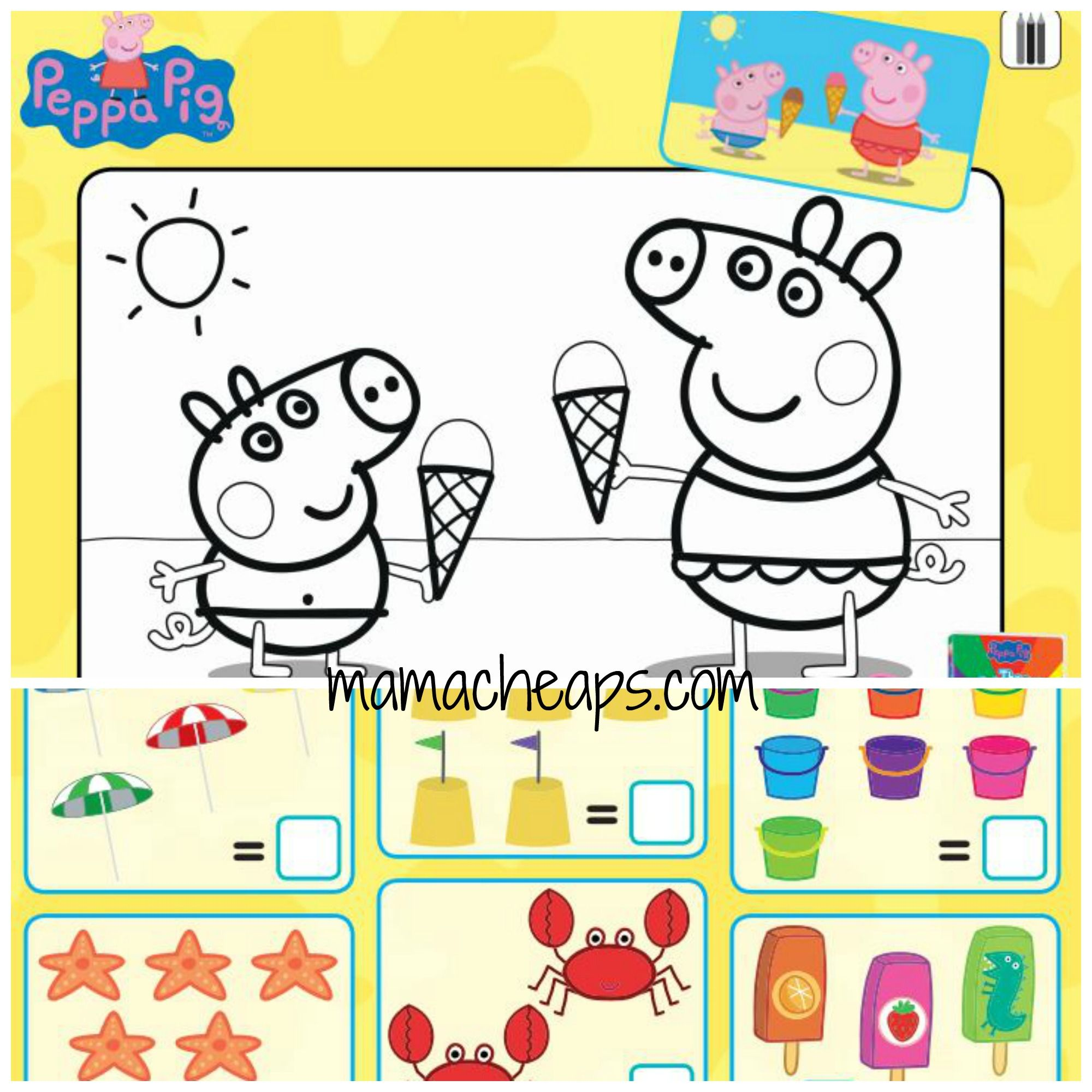 Colouring pages to print peppa pig - Image Result For Peppa Pig Free Printable Activities