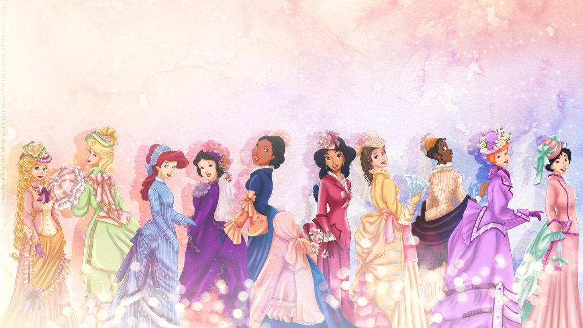 Vintage Princesses Wallpaper By Selinmarsou On Deviantart Com