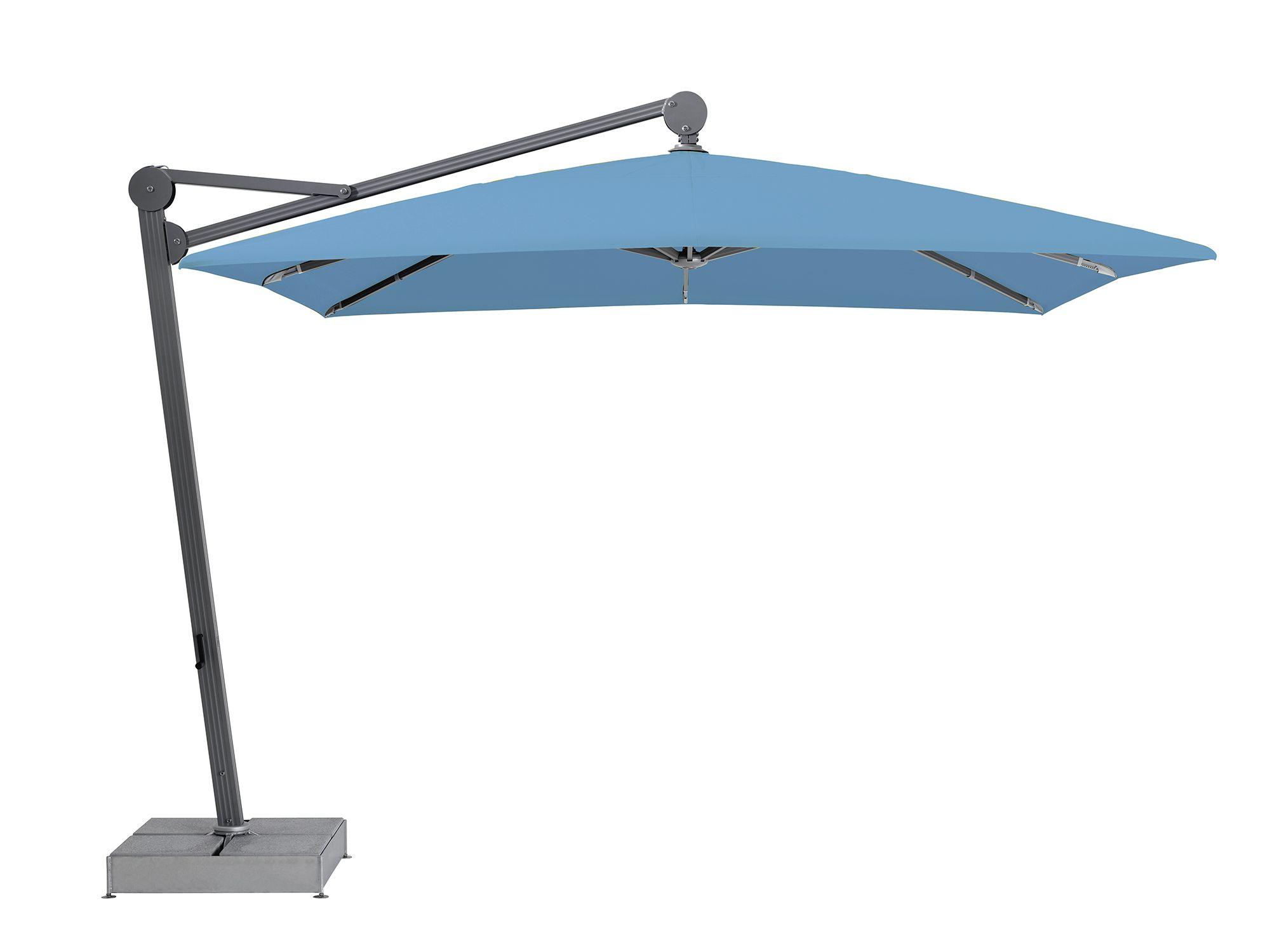 Glatz Alu Twist auf grüner Dachterrasse ☂ lila Sonnenschirm ☂ grüne Idylle Sonnenschirme Pinterest