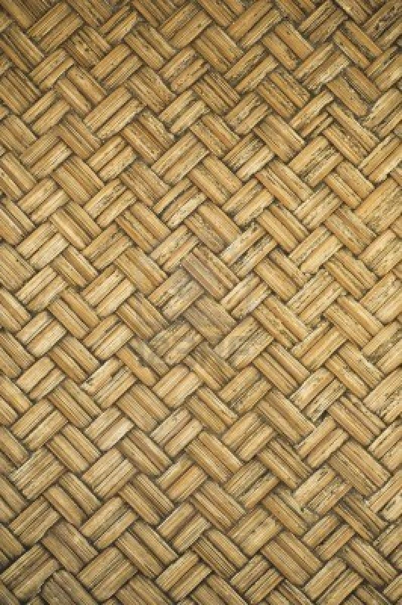Thai Style Bamboo Basketry Wooden Texture Basketry