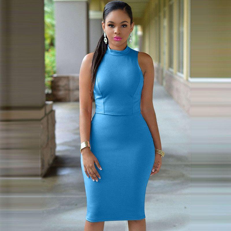 230e8890dc20 2017 Plus Size Turtleneck Sexy Dress Bodycon Midi Dress