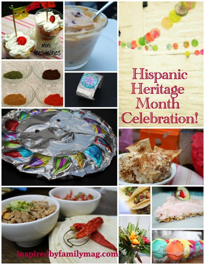 8 Ways to Celebrate Hispanic Heritage Month: crafts, recipes, kid activities... - Inspired by Familia