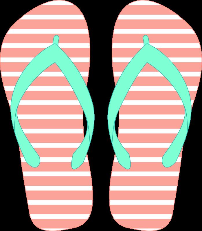 20+ Cute flip flop clipart info