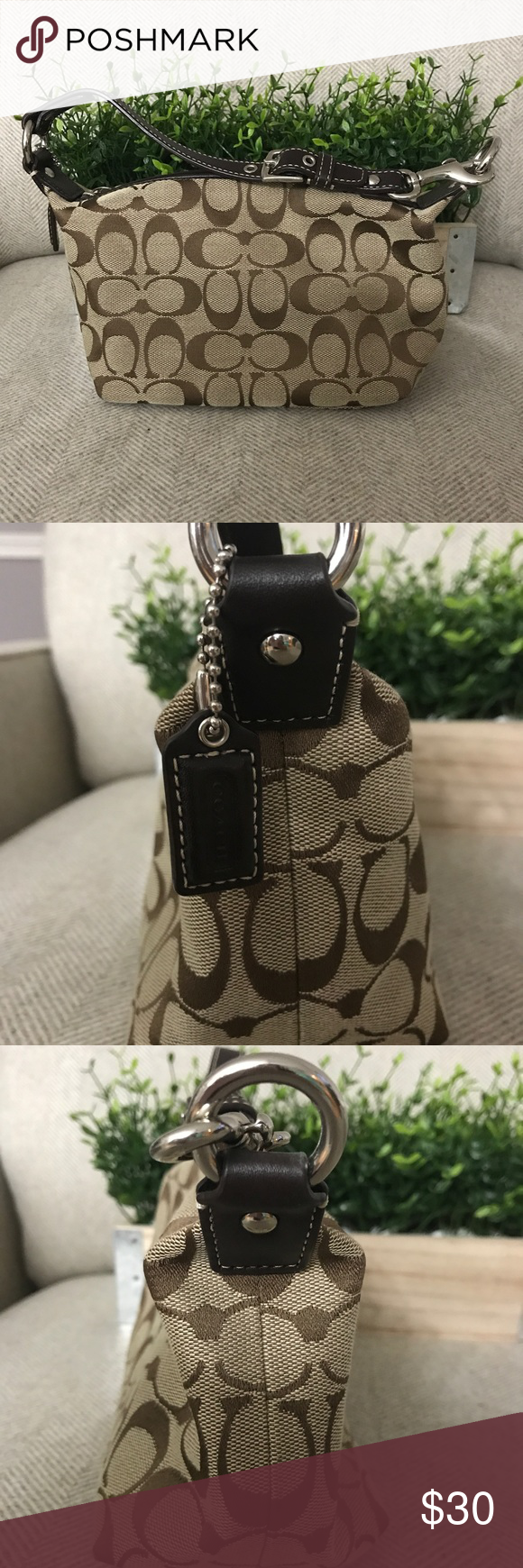Promo Code For Coach Signature Mini Purse 78e89 9bf3e Small Margot Carryall In Canvas F34608 Best Price Brown Clean And Excellent Condition