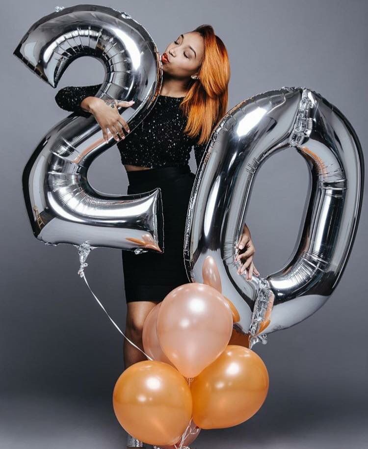 Number Balloons Photoshoot 21st Birthday Photoshoot Birthday