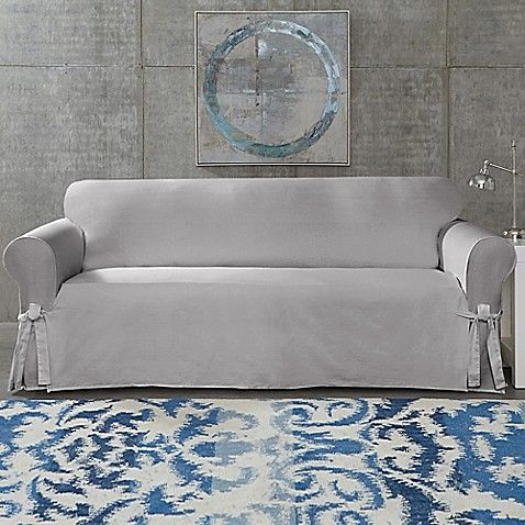 SUREFIT Cotton Canvas Wrinkle Resistant Sofa Slipcover