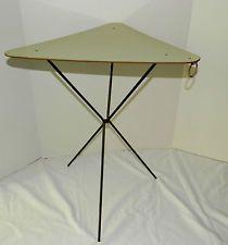 vintage retro eames mid century formica laminate triangle folding