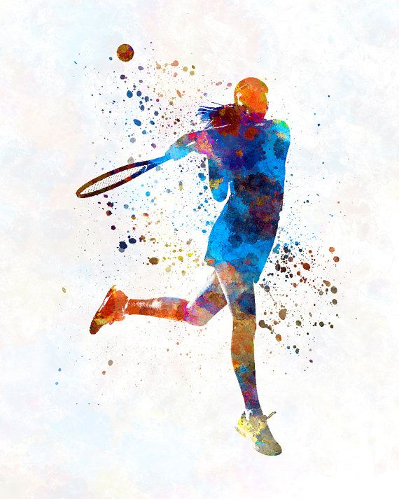 Woman Tennis Player 03 In Watercolor Fine Art Print Glicee Etsy In 2020 Tennis Art Sport Illustration Tennis Players