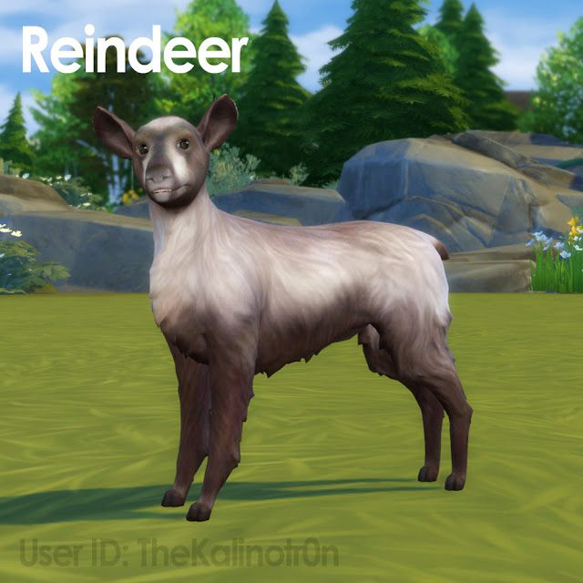 Reindeers By Kalino Sims 4 Mods Haustiere Sims 4