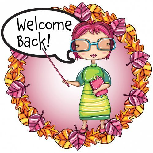 welcome back clip art from pto today clip art pinterest pto rh pinterest co uk animated welcome back to school clipart welcome back to school clipart free