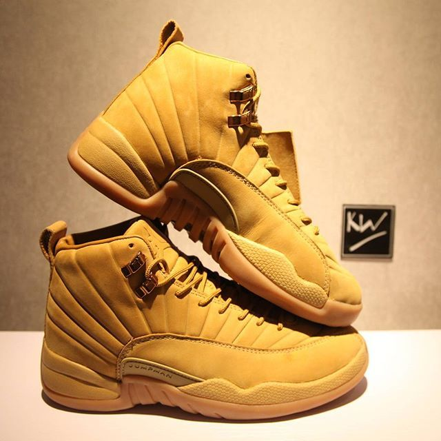 """fdd60a6850cf AUTHENTIC PSNY X AIR JORDAN 12 """"WHEAT"""" all size are in stock.DM ME ..."""