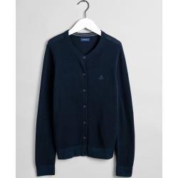 Photo of Gant Cotton Piqué Cardigan (Blau) Gant
