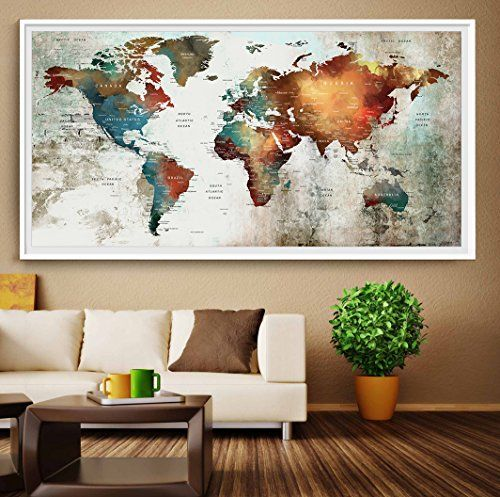 World map wall art push pin world map poster extra larg https world map wall art push pin world map poster extra larg gumiabroncs Image collections