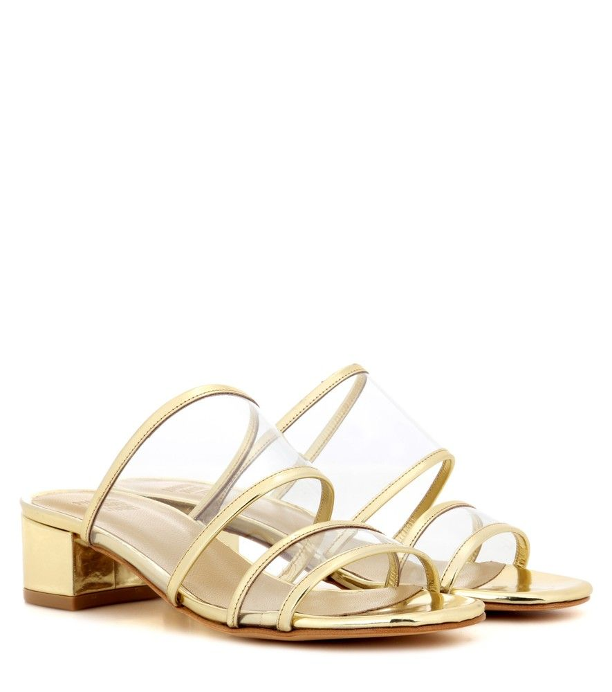 907aefd3454dd Maryam Nassir Zadeh - Martina Slide metallic slip-on sandals - Maryam  Nassir Zadeh taps into this season s fascination with transparent shoes.