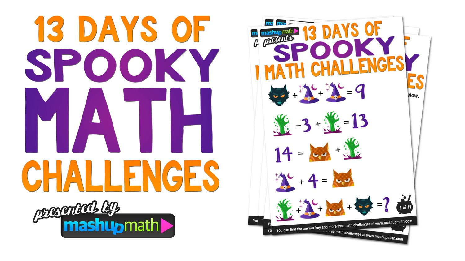 Halloween Math 13 Days Of Spooky Math Challenges For