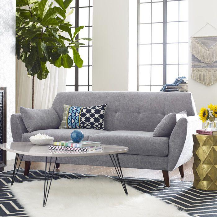 Grey Sofa   Mid century modern living room decor, Mid ...